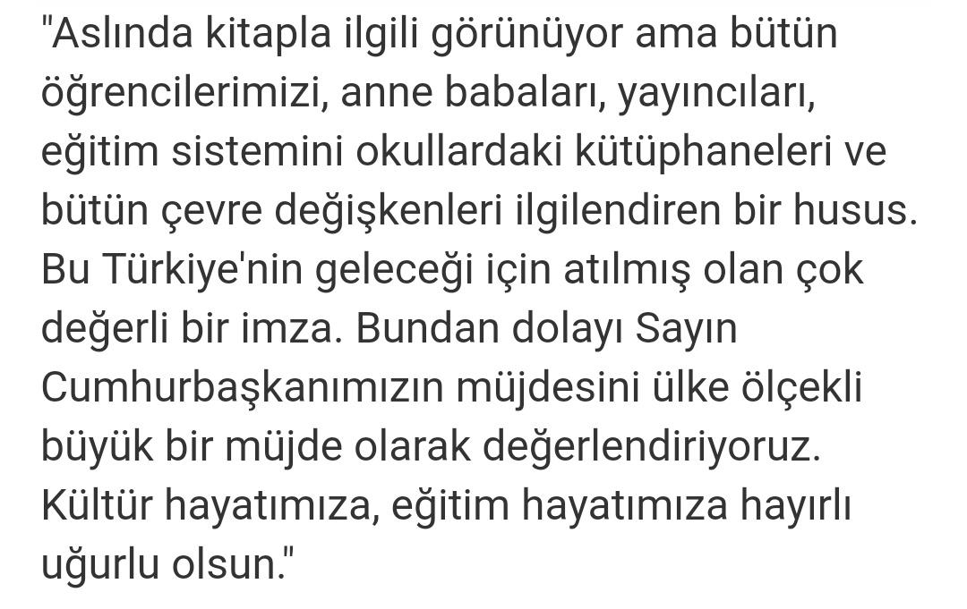 Kitap kdv indirimi erdoğan