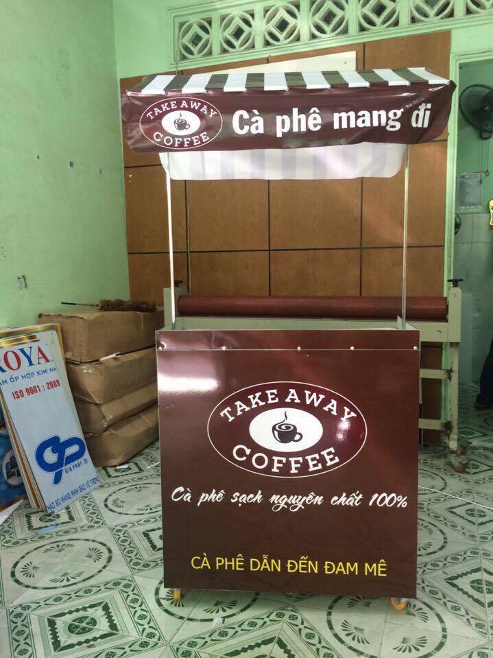 Thiết kế, thi công và bán quầy bán cafe take away tại TPHCM