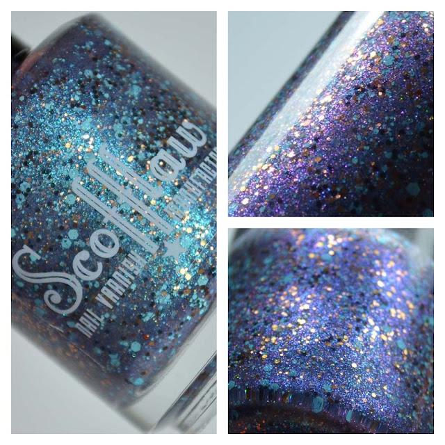 blue glitter nail polish