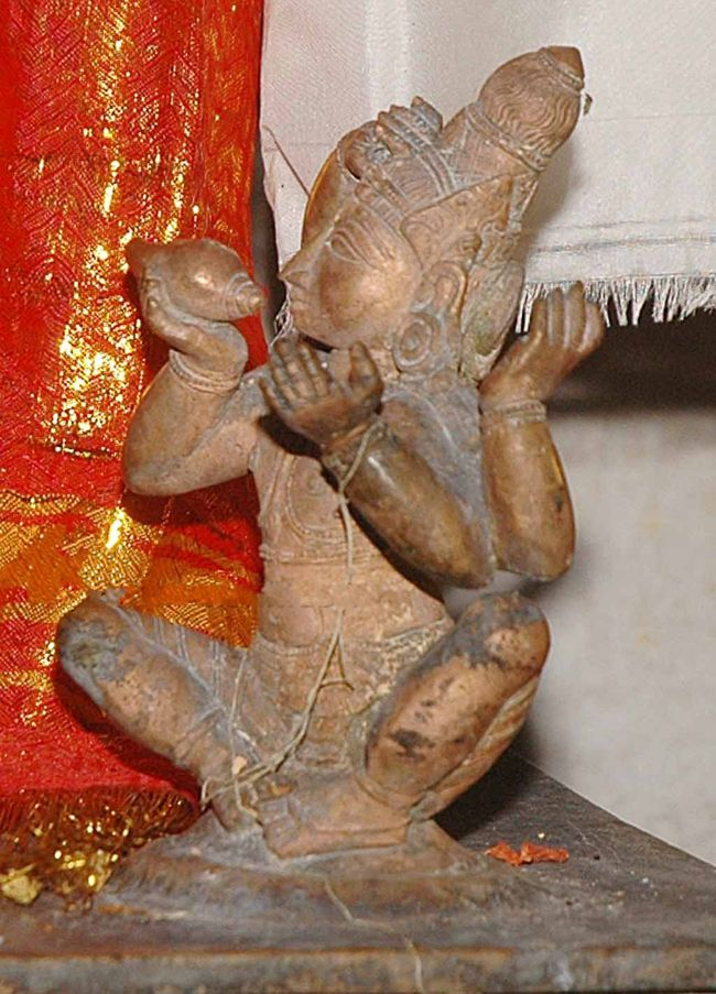 Lord Vishnu Singing With His Conch