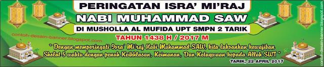 Spanduk Peringatan Isra' Mi'raj SMPN 2 Tarik Sidoarjo