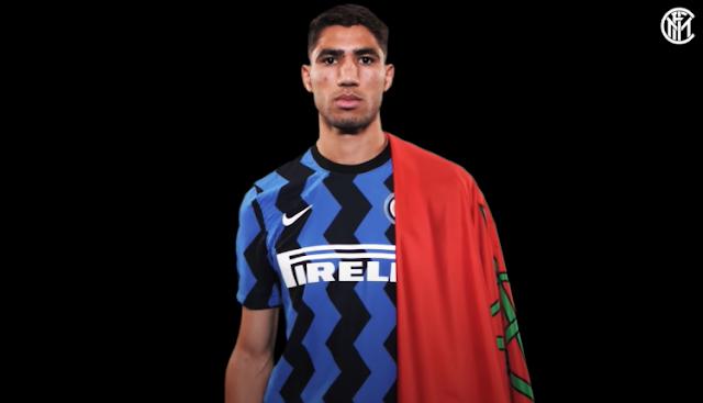 إنتر ميلان الإيطالي يرحب باللاعب المغربي أشرف حكيمي بمناسبة إنضمامه للنيراتزوري بقيمة 40 مليون يورو