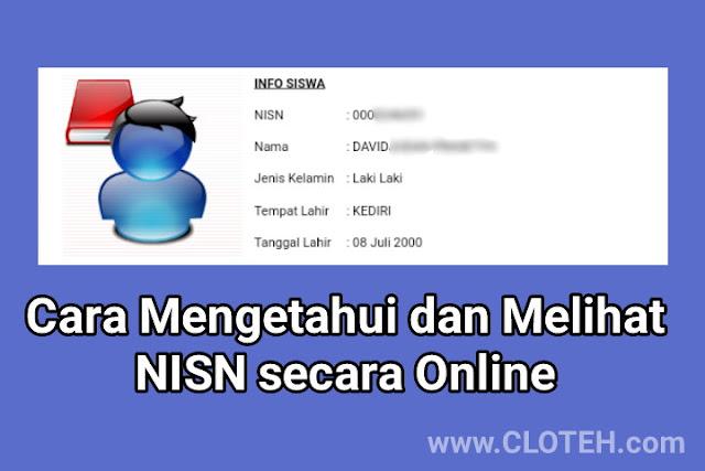 Melihat NISN secara online terbaru