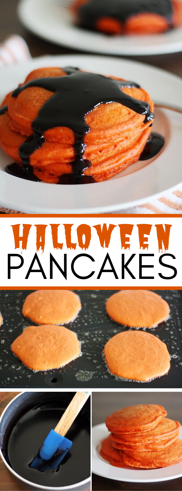 Halloween Pancakes #breakfast #vegetarian