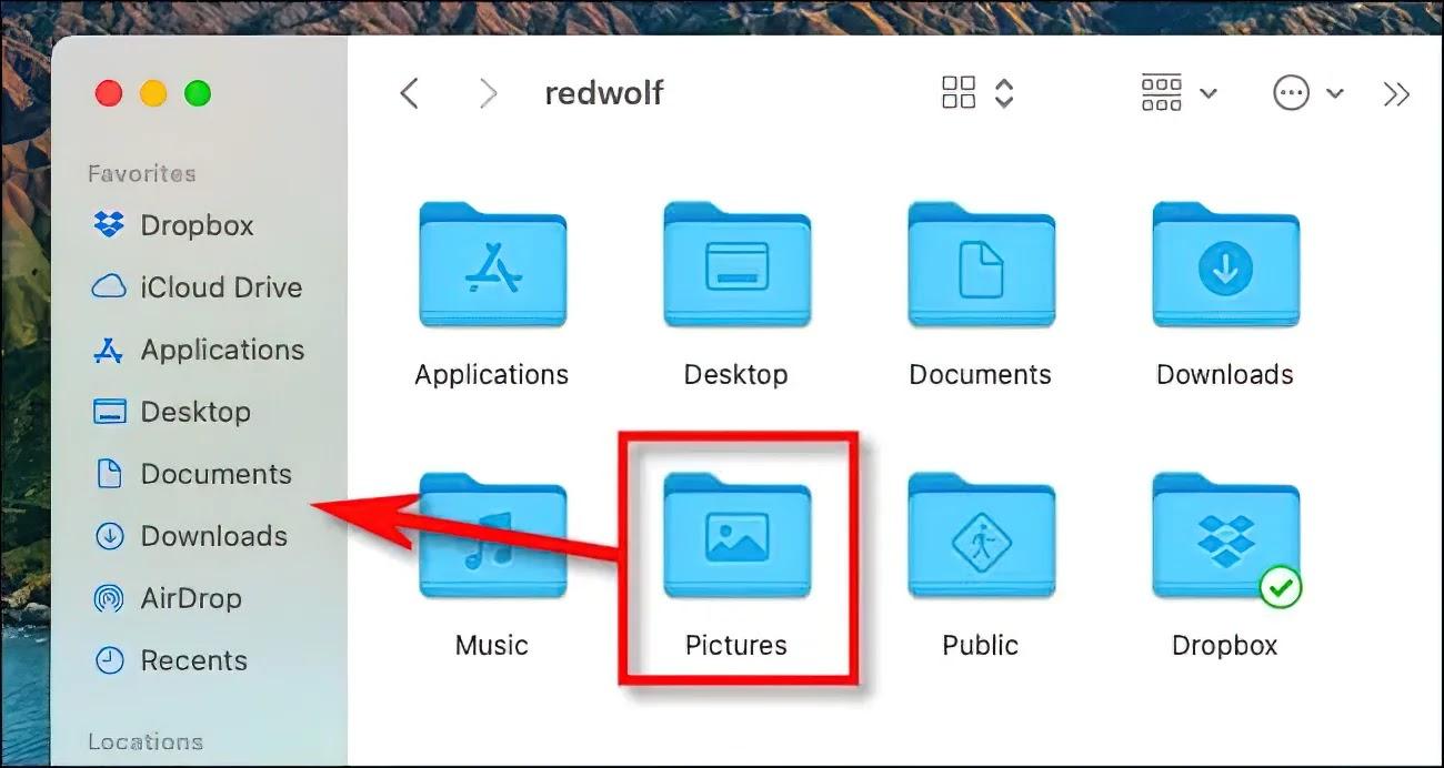 Cách tìm nhanh thư mục Pictures trên máy Mac