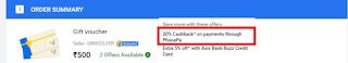 Flat 20% off on Flipkart Gift Vouchers (Flipkart Gift Card Loot)