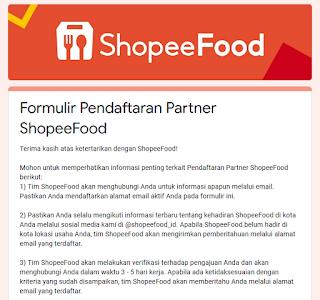 8 Langkah Cara Daftar Shopee Food Merchant Dan Resto