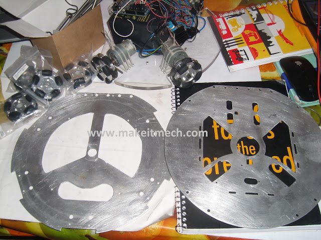 Aluminium chassis design for soccer robot.robot design for robocup.