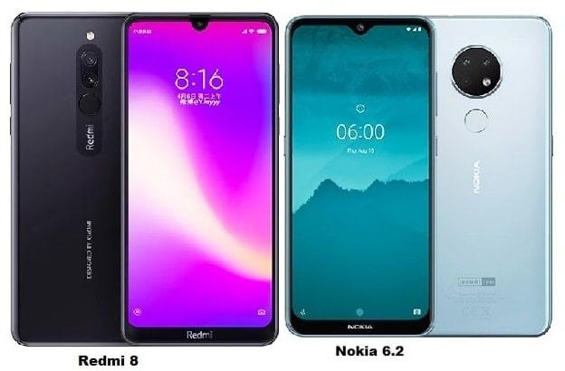 Xiaomi Redmi 8 Vs Nokia 6.2 Specs Comparison