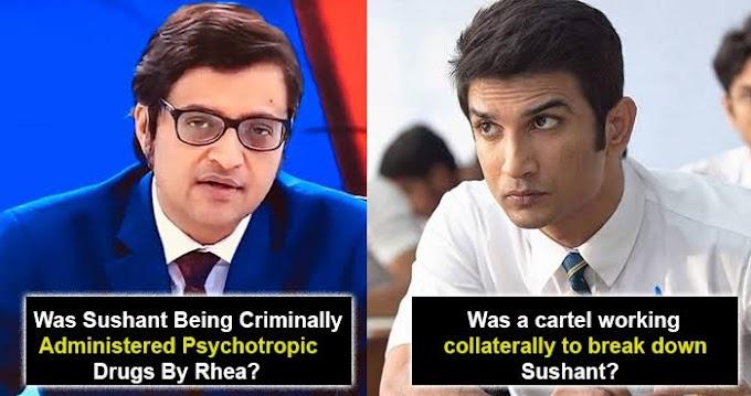 5/10/2020 अर्नब गोस्वामी सुशांत सिंह राजपूत की मौत पर महत्वपूर्ण सबूत उजागर करेंगे। Tomorrow Arnab Goswami will exposing important evidence on Sushant singh rajput's death.