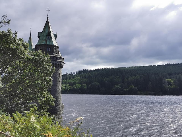 The gothic revival straining tower at lake vyrnwy.