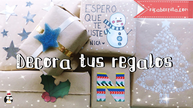 Ideas para envolver regalos con papel kraft. Nica Bernita