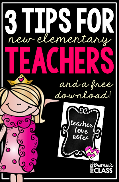 3 Smart Tips for new elementary teachers & a free download!