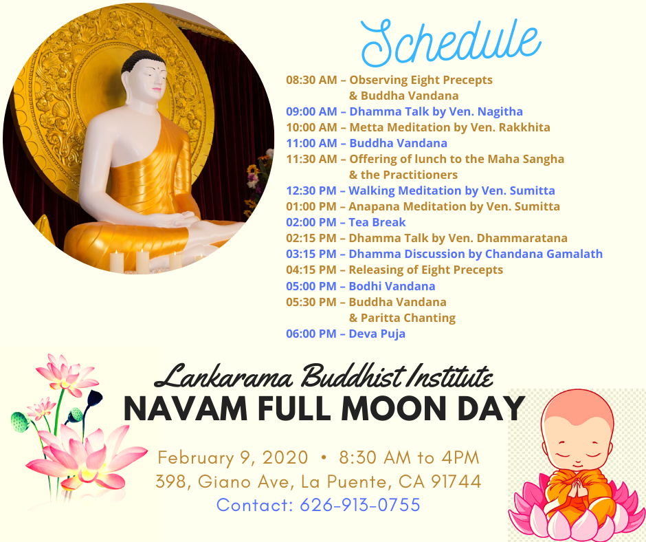 Navam Full Moon Day Event