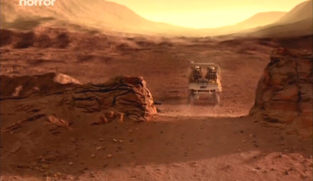 Driving rover towards the horizon - Escape from Mars movie image