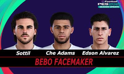 PES 2021 Faces Che Adams & E. Álvarez & Sottil by Bebo