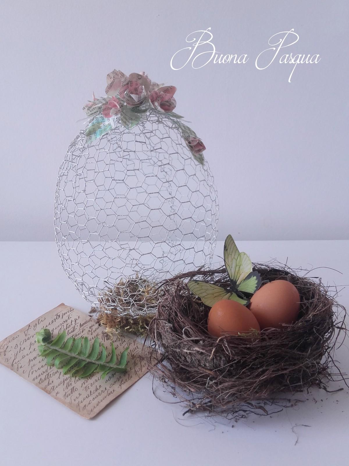 Uovo in rete per polli