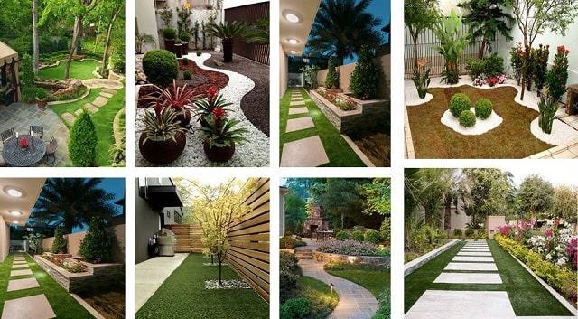 افكار رائعة لتصاميم وديكورات ممرات الحدائق المنزلية