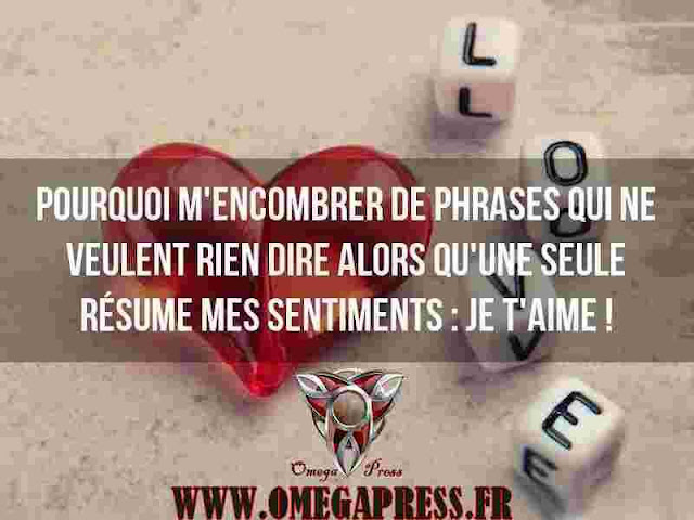 citation: le resumer de mes sentiment je t'aime