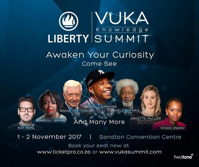 Russell Simmons, Wole Soyinka & More Thought Leaders To Converge At The Inaugural Liberty Vuka Knowledge Summit