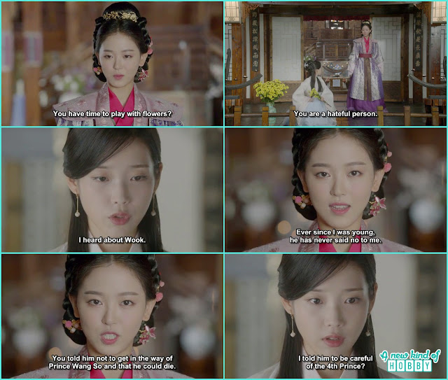 yeon hwa told hae so it was you who ask wook to becareful from 4th prince  - Moon Lovers Scarlet Heart Ryeo - Episode 19