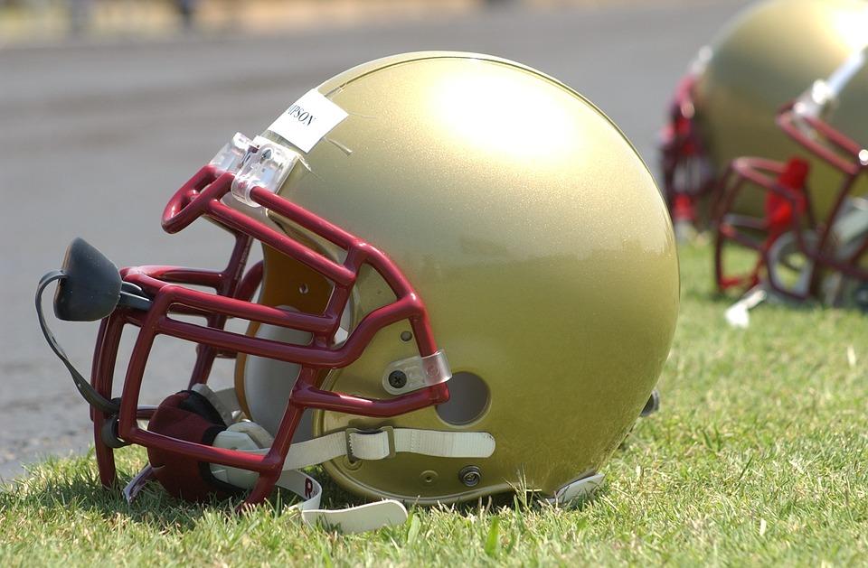 Right Football Helmet