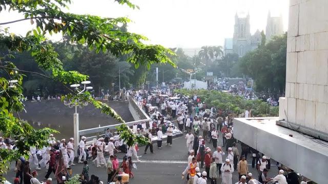 Situasi Terkini Aksi Simpatik 55 di Kawasan Masjid Istiqlal, Seperti Apa?