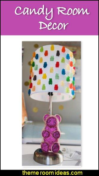 candy room decor Gummy bear lamp cupcake room decor