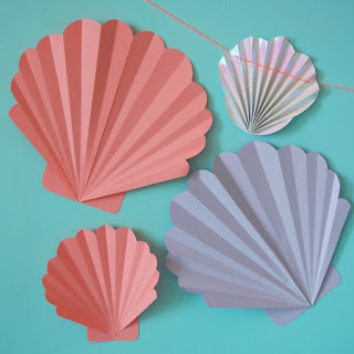 free printable seashell template
