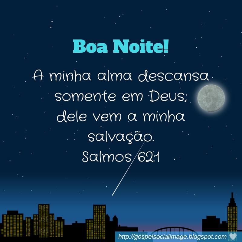 Imagens de boa noite com versículos bíblicos - Salmos-62.1