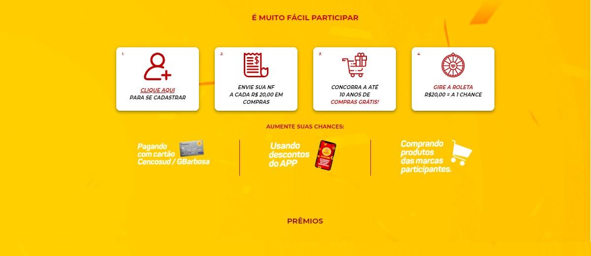 Cadastrar Promoção Super Sorte GBarbosa 2020 - Supermercados