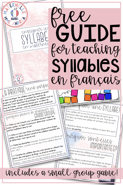 Not sure why syllables are SO important for your primary French second-language students to learn? Check out this blog post for 5 reasons why you NEED to be making more time for syllables in your teaching day! Your students will become stronger readers AND writers with this important info.