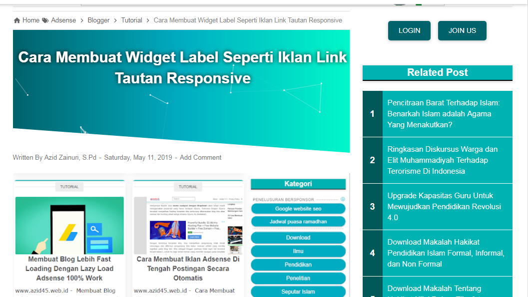 Cara Memodifikasi Related Post Agar Tampil Di Sidebar Blog