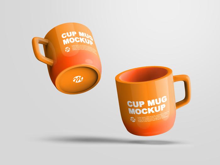 Two Mug Mockup Design