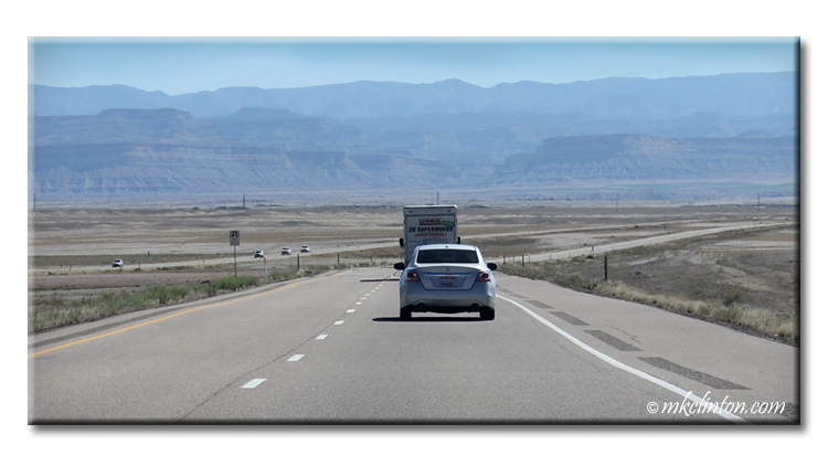 A U-Haul and car in Utah