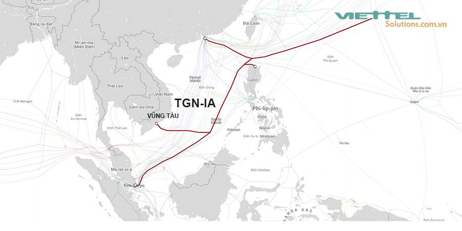 Hình 5 - Cáp quang biển Liên Á TGN-IA (Tata TGN Intra-Asia)