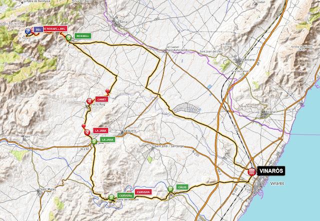 mapa etapa vinaròs-bel