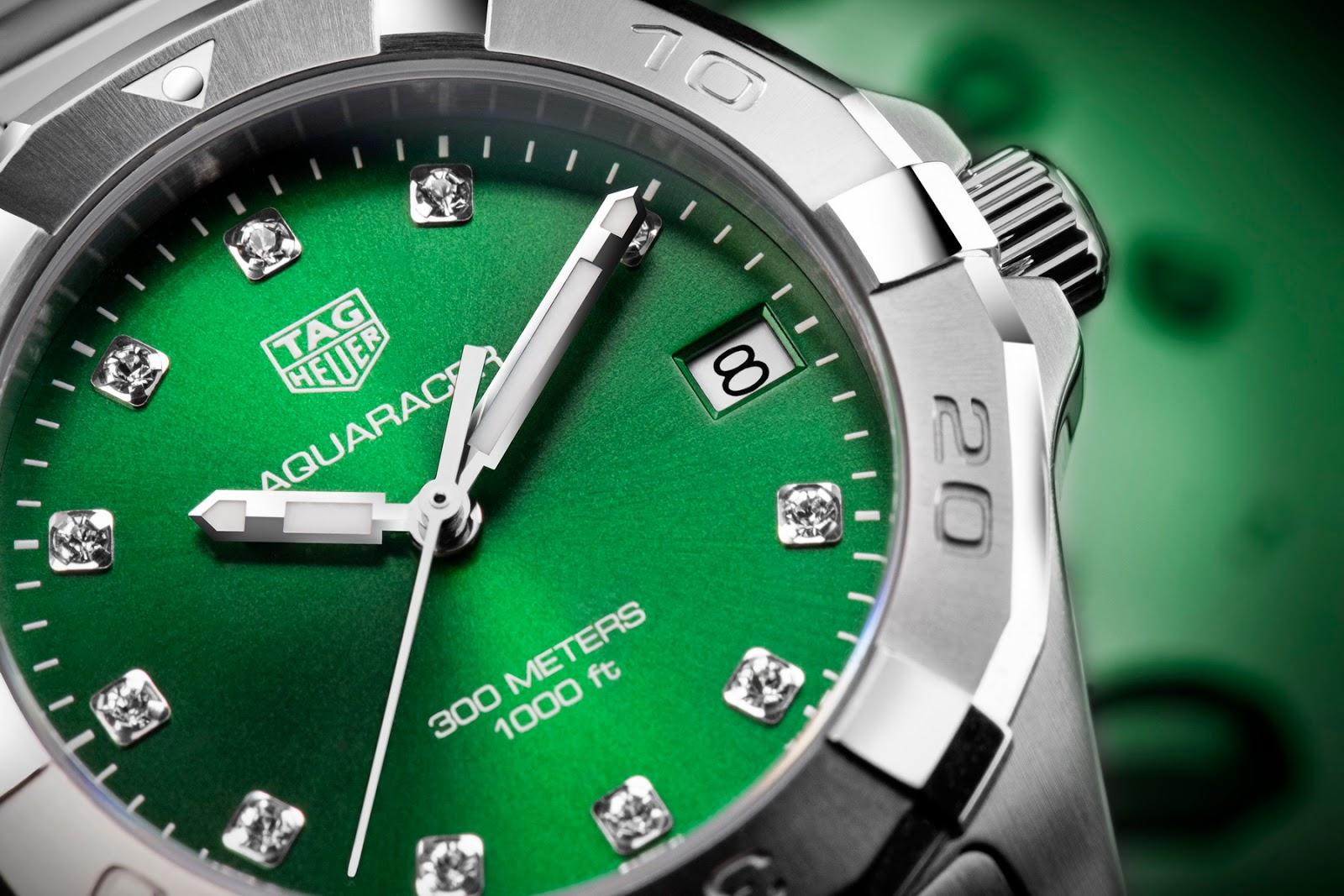 Tag Heuer's new Emerald Green Aquaracers TAG+Heuer+Aquracer+EMERALD+04