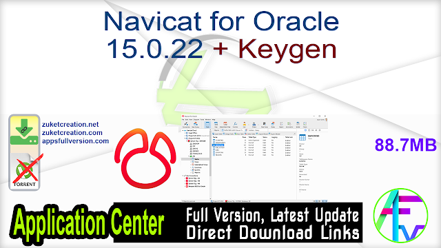 Navicat for Oracle 15.0.22 + Keygen