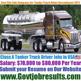 Coal City Cob Company Inc Class A Tanker Truck Driver Recruitment 2021-22