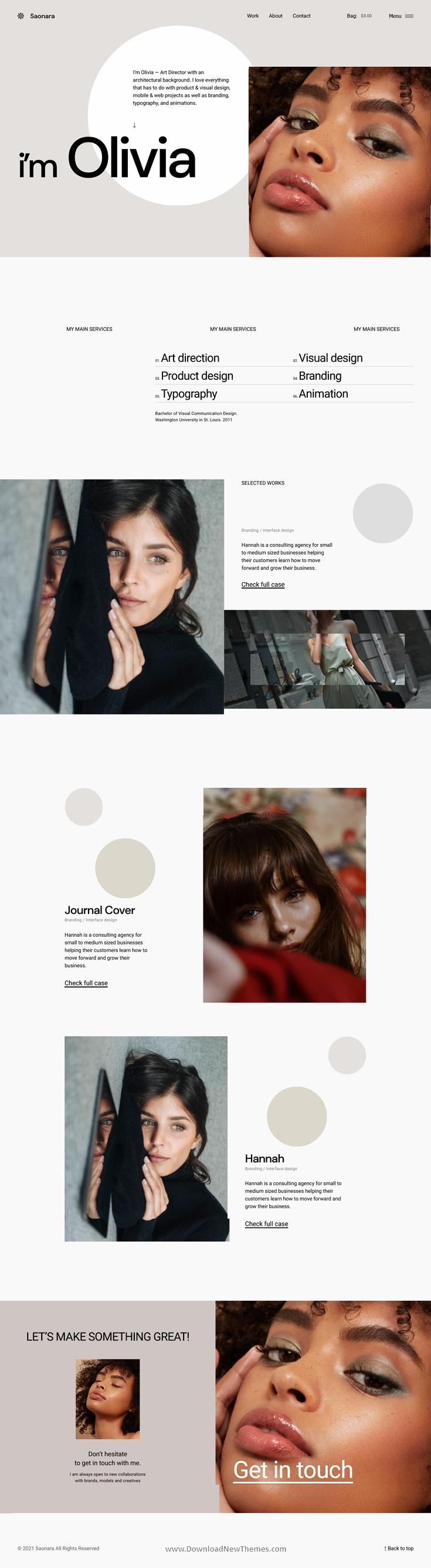Ajax Powered Multi-Concept WordPress Theme