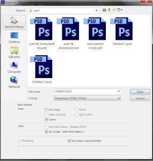 photoshop cs6 : save option