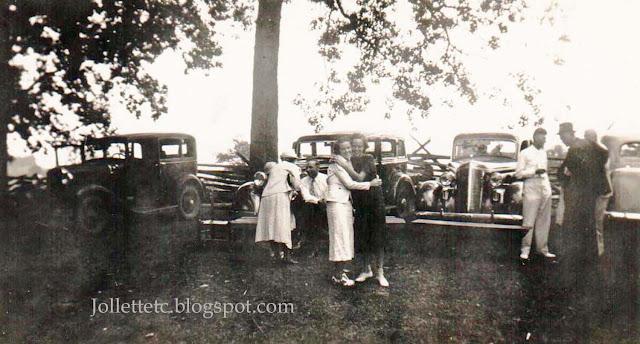 Jollett Reunion maybe 1940 Verbena Park Shenandoah, VA https://jollettetc.blogspot.com