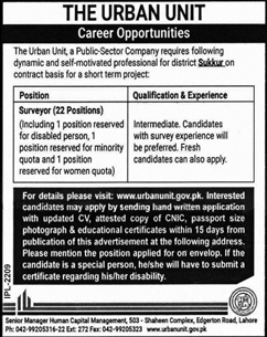 Punjab Government Urban Unit Jobs 2019 for Surveyor