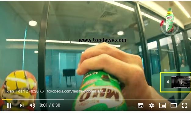 Jeda iklan midroll yuotube yang bisa di skip