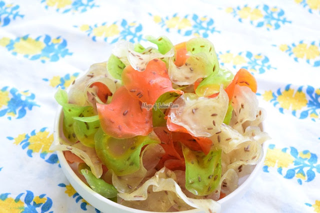 Chawal Aata Ke Fryums | Rice Flour Chips - Priya R - Magic of Indian Rasoi