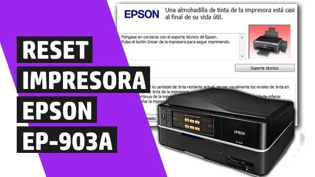 resetear almohadillas impresora Epson EP903A