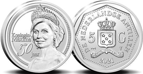 Netherlands Antilles 5 gulden 2021 - 50th Birthday of Her Majesty Queen Máxima