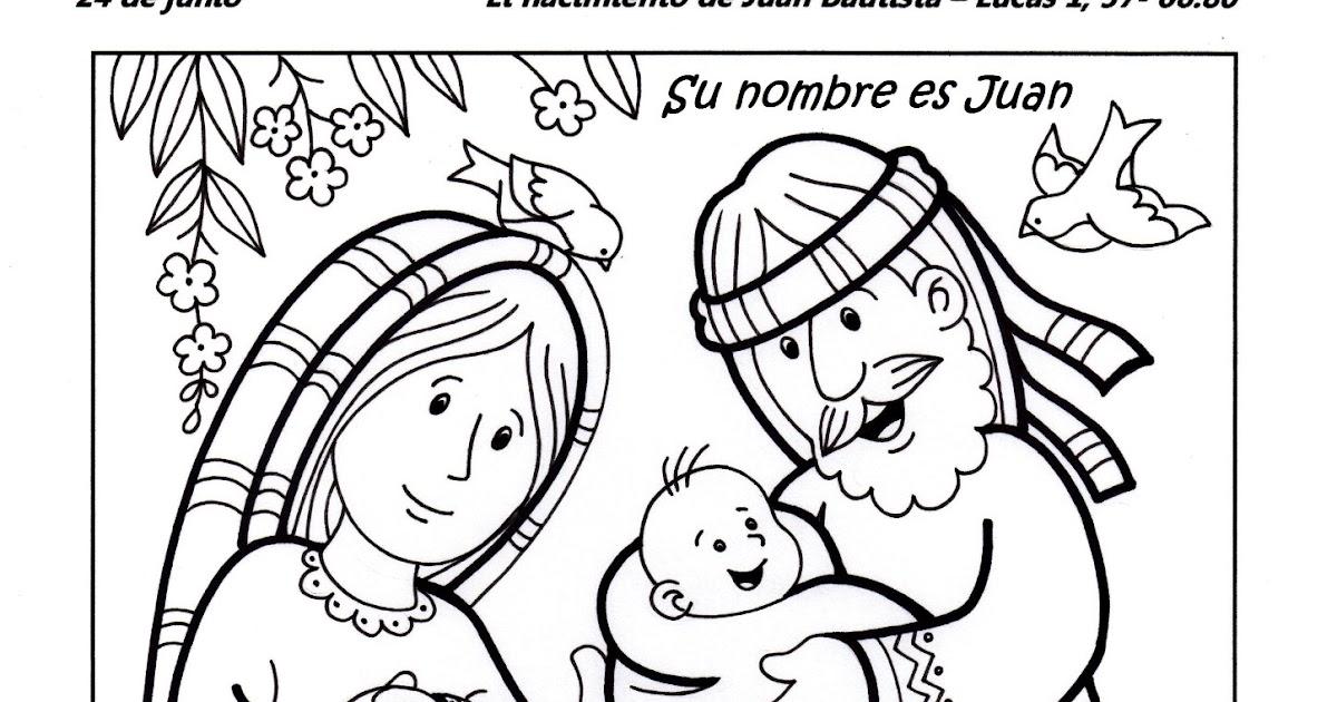 Dibujos Para Colorear San Juan: El Rincón De Las Melli: El Nacimiento De Juan Bautista