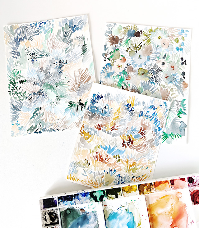 Abstract Watercolor Paintings by Elise Engh